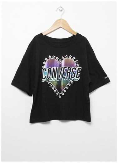 Converse Converse Bisiklet Yaka Siyah T-Shirt Siyah